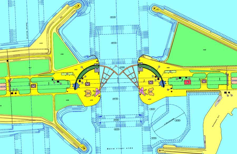 Комплекс защитных сооружений - Схема судопропускного сооружения С1.